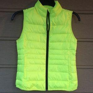 Xersion Girls sz 8 neon yellow vest EXCELLENT NICE